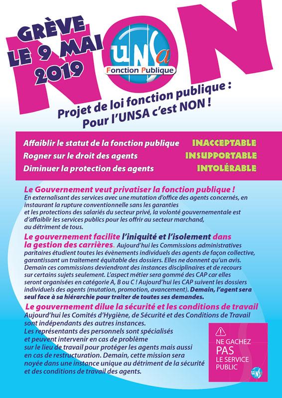 14a7d72fc24 L UNSA met à disposition des tracts et développe des arguments pour faire  du 9 mai 2019 un moment fort de la mobilisation en faveur de la fonction  publique.