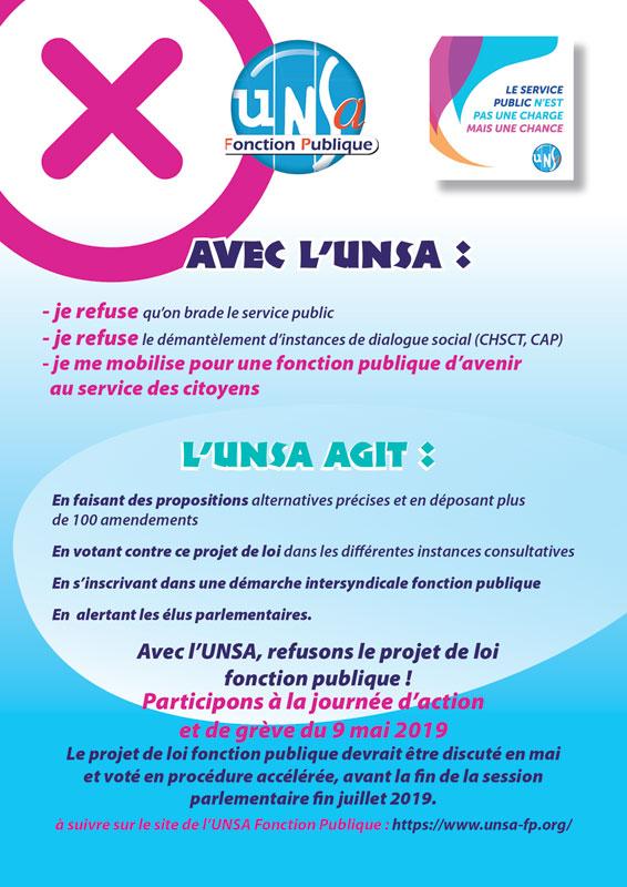 e2fab8e02cc Appel à la grève pour le 9 mai 2019   les tracts - UNSA Fonction ...
