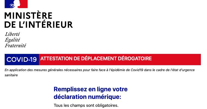 Trouver Facilement Les Attestations De Deplacement Derogatoire Unsa Fonction Publique